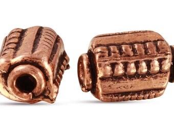 5 Pcs 10x6.5 mm Copper Bali Style Tube Beads (CP5001015)