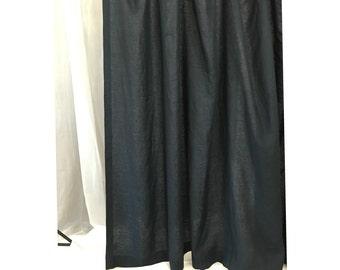 Black linen shower curtain - Mildew-Free, 72x72, 72x85, 72x94. Custom Curtains, Bathroom Curtain, Bathroom Decor