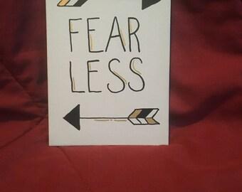 Fear Less canvas
