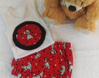 100 & 1 Dalmatian Bloomer Set   - size 0