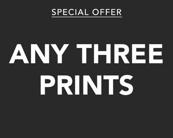 Any 3 prints special offer – Discount deal – Save – Gifts for foodies – Gifts for him – Gifts for her – Offer – Wall art – Home decor
