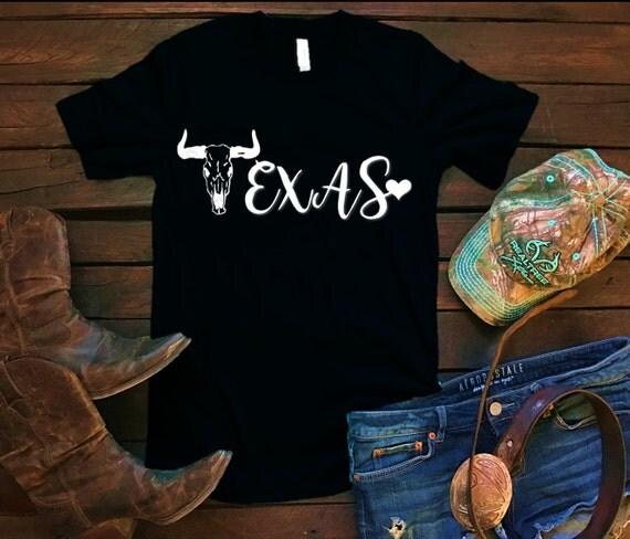 Texas Bull Skull Unisex T Shirt, Southern T Shirt, Country Shirt, Country Concert, Bar Shirt, Funny Shirt, Boutique Shirt