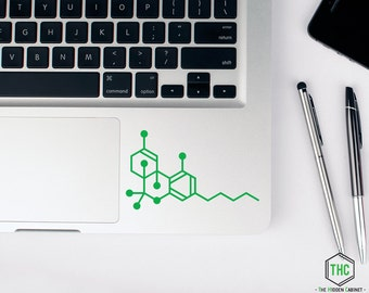 THC Molecule Vinyl Sticker / Decal