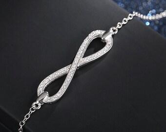 Infinity Bracelet - 100% Sterling Silver Bracelet