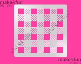 Plaid Pattern Cake Stencil, Cookie Stencil, Designer, Pochoir, Airbrush stencil, Torten Schablone