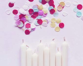 Styled stock photography/birthday/candles/confetti/celebrate/JPEG/brand/greetingcard/happy/background/digital/website/blog/colorful/children