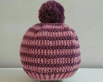 Pompom Hat Crochet toddler preschooler girls winterwear