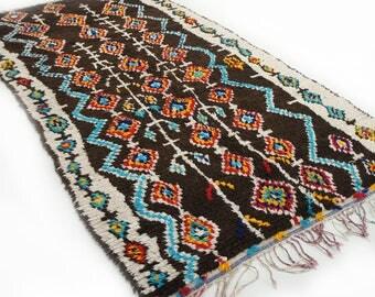 Morrocan rug ''Blue Bayou'' (9'6 x 4'9 ft) Ourika- Boucherouite