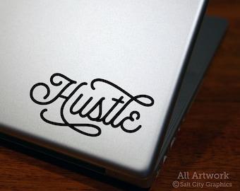 Hustle, Work Hard, Hustle Hard, Car Decal For Woman, Girl Sticker, Inspiration Decal, Laptop Decal, Vinyl Sticker, Car Decal, Bumper Sticker
