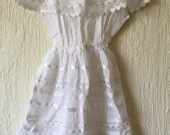 Campesino mexican white dress