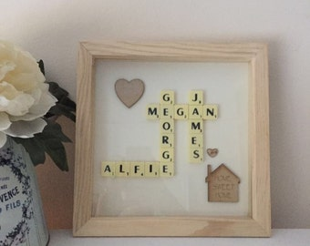 Scrabble personalised frames made with your words