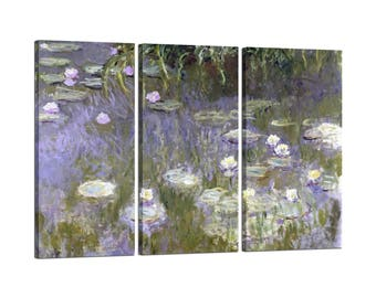 Framed painting on canvas Claude Monet Water Lilies