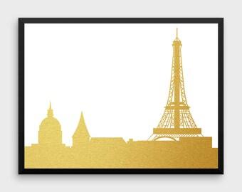 Paris Decor | Paris Print, Paris Skyline, Paris France, Paris Poster, Paris Art Print, Paris Wall Art, Cityscape Art, Landscape Art, France