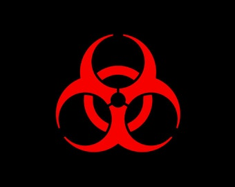 Biohazard Vinyl Decal in many colors and sizes!