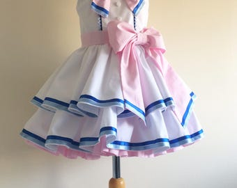 Hand Made Sylveon Pokemon Inspired Dress Costume Girls sizes 2, 3, 4, 5, 6, 7, 8, 9, 10 years