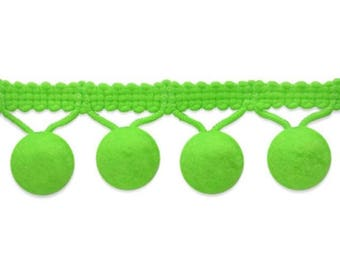 Lime Green Mini Pom Pom Fringe Embellishments 5 Yards