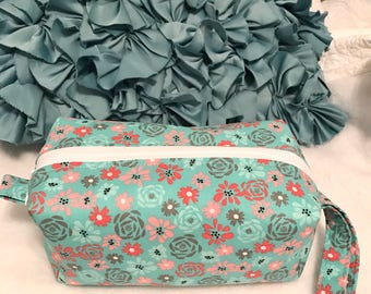 Flower Frenzy- Cosmetic Bag, Makeup Bag, Travel Bag, Box Pouch