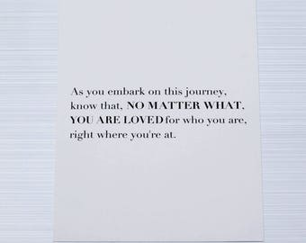"""As You Embark On This Journey - 5"""" x 7"""" Print"""