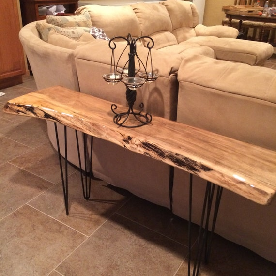 Live Edge Foyer Table : Live edge slab hall table or couch by