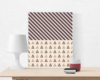 Abstract scandinavian art, abstract art print, printable wall art, instant download, abstract art, geometric print, scandinavian design