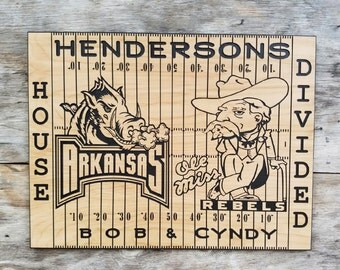 House Divided Football Wooden Sign  Football decor Man Cave