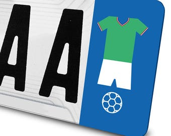 Decal soccer enough for license plates