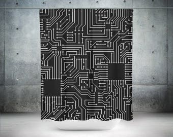 Geek Shower Curtain | Geek Bath Curtain | Geek Bath Décor | Geek Bathroom  Décor |