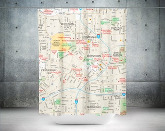 Atlanta Shower Curtain | Atlanta Bath Curtain | Atlanta Bath Décor | Atlanta Bathroom Décor | Atlanta Bathroom | Atlanta Shower | Atlanta