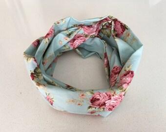 Infinity scarf - romantic blue