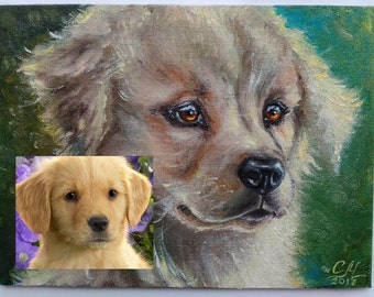 Custom Pet portrait painting dog lover gift Commission painting Impressionist oil painting Custom Dog portrait from photo Fine art painting