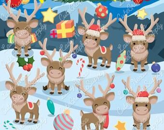 Xmas Reindeer, Christmas Reindeer, Reindeer, Christmas, Cute reindeer LN0149-