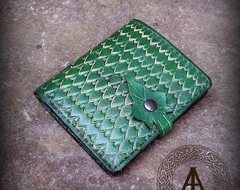 Green Leather Elvish Wallet