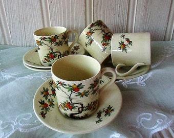 Antique Citrus Tree Coffee Set