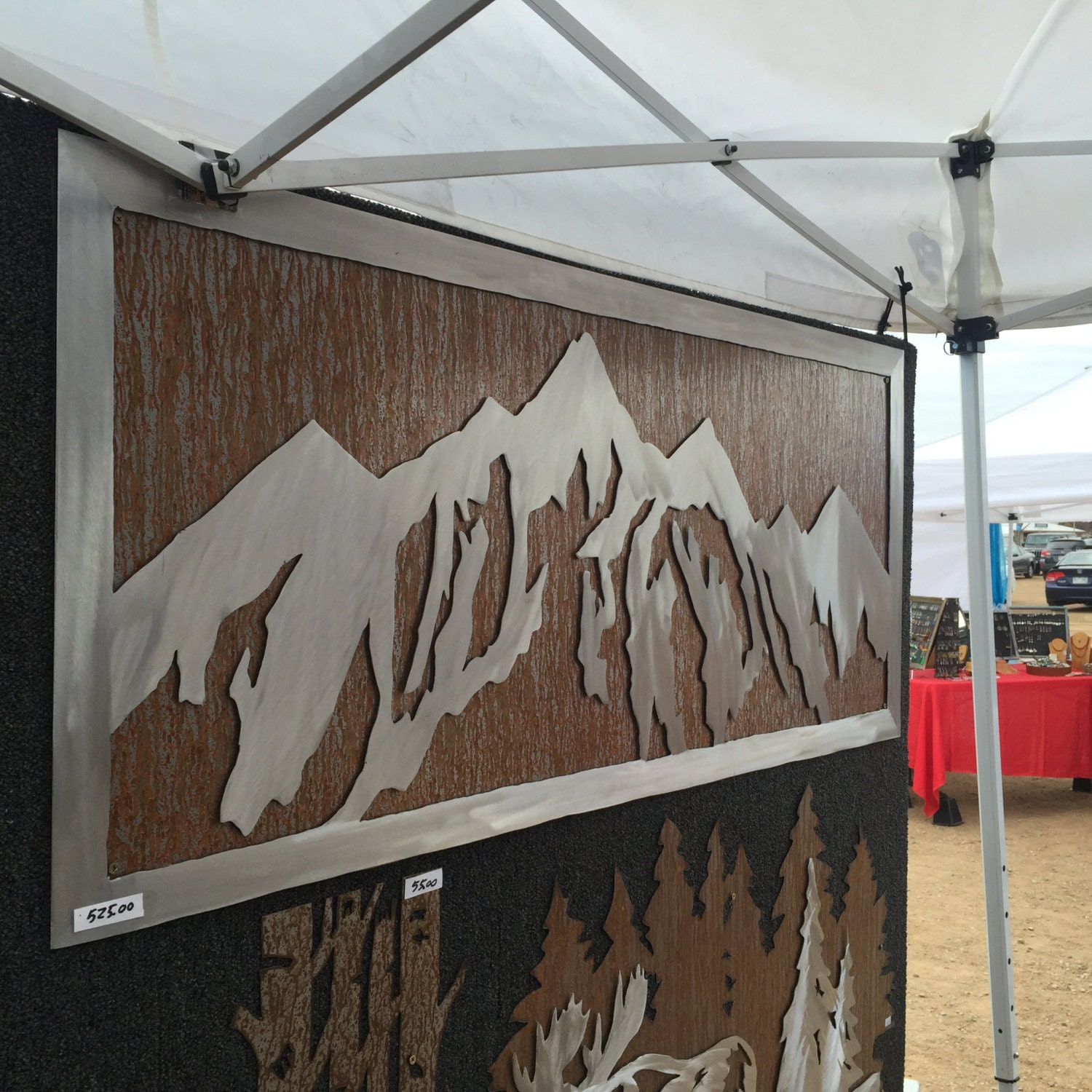 Mountain Decor. Metal Wall Art. Mountain wall mural ...