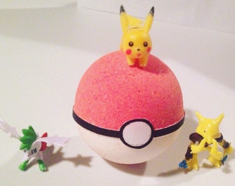 Gotta Ketchum All! with Toy inside Scented Bath Fizzy