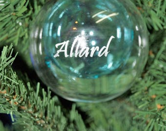 Personalised, glass christmas bauble,engarved christmas gift,babys 1st christmas, in loving memory, bespoke christmas gift, christmas bauble