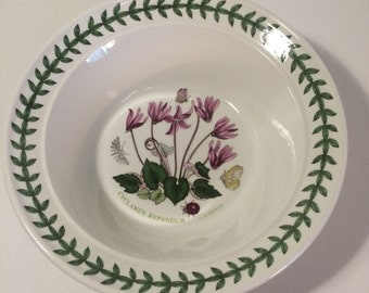 Portmierion Studio Botanic Garden Bowl / Dish - Pink Cyclamen Flower and Butterflies. Find