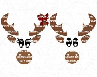 moose face svg - moose svg - camping svg - outdoor svg - woodland svg - animal svg - moose christmas svg