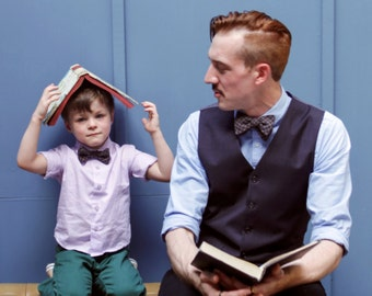 Custom Father Son Matching Ties -  Matching Father Son Bow ties - Kid's Bowtie - Bowtie Set - Matching Father Son Bowties - Made to Order