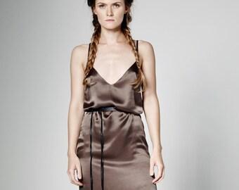 Kleid aus Seide, langes Kleid, formale Maxi-Kleid, ärmelloses Kleid, gerade offenen Rücken, Brautjungfernkleid, Hochzeit Partei Kleid