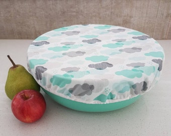 Reusable salad bowl,mixing bowl cover, entertaining, outdoors, picnic, reusable, recycle - no more buying clingwrap!