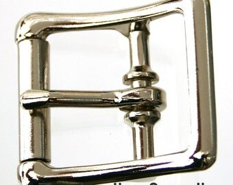 "1"" buckle - center bar - true roller - 10 pack - nickel plated steel buckles (#1231)"