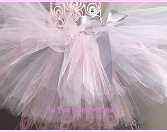 Pink and Silver Tutu, Infant Tutu, Baby Tutu, Toddler Tutu