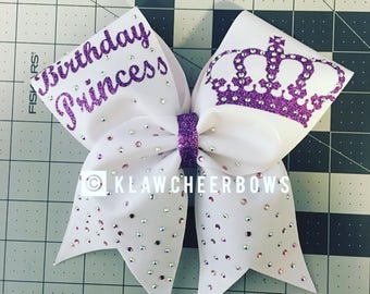Birthday Princess Bow With Bling