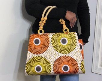 Multi Color Ankara Tote Bag (BAB1)