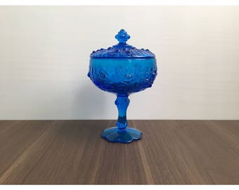 Antique Blue Candy Dish
