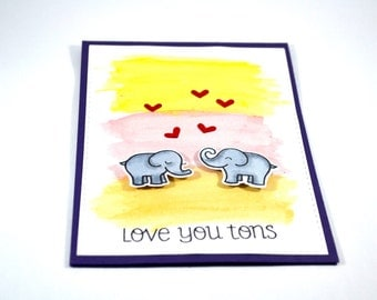 Valentines Day Card / Anniversary Card/ birthday card / Card for spouse / card for her/ Card for him/ Love card/ watercolour card