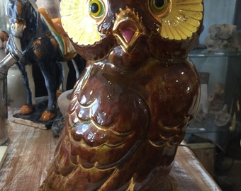 Retro 60s Owl Table Lamp