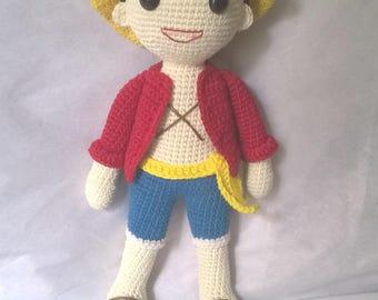 One piece - Monkey D. Luffy crochet pattern