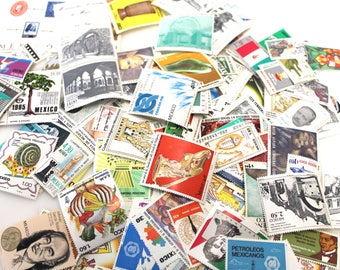 Lot of Over 100 Vintage Mexican Stamps in Mint Condition - Historical Figures, Famous Art, National Landmarks & More